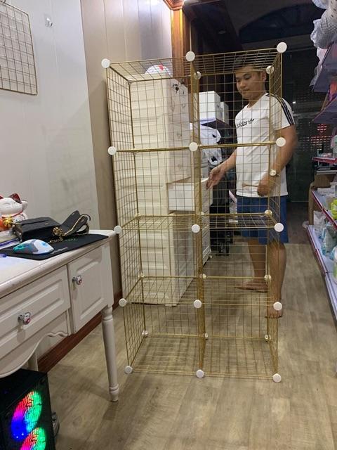 - Tấm Lưới sắt thép lắp ghép đa năng: giá để sách, đồ trang trí, chuồng quây chó mèo, decor trang trí nhà