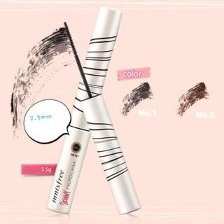 [Màu Đen, Nâu] Mascara Siêu Mảnh Innisfree Skinny Microcara - Chuốt Mi Innisfree 2.5mm