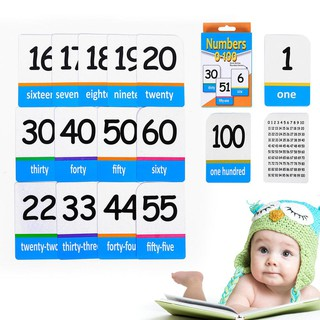 Baby 1box Coated Paper Digital Cards Early Educative Number Card for Kids Study