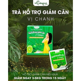 Detox Chanh Giảm Cân N Collagen – Hỗ trợ tăng cường chuyển hóa chất béo hộp 15 gói