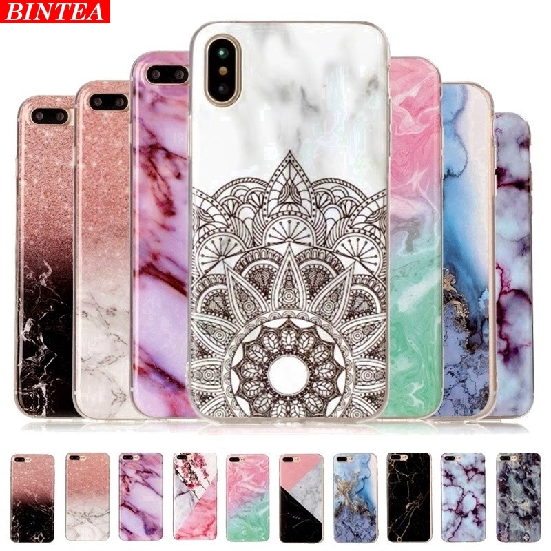 Huawei Y9 Prime 2019 Marble Soft Silicone Phone Case For Y5 2019