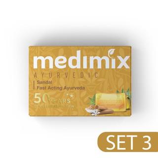 Set 3 Xà Phòng Medimix Đàn Hương Sáng Da 125g bánh