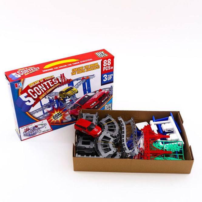 [Siêu Phẩm] bộ đồ chơi lắp ráp đường đua ô tô 88 chi tiết