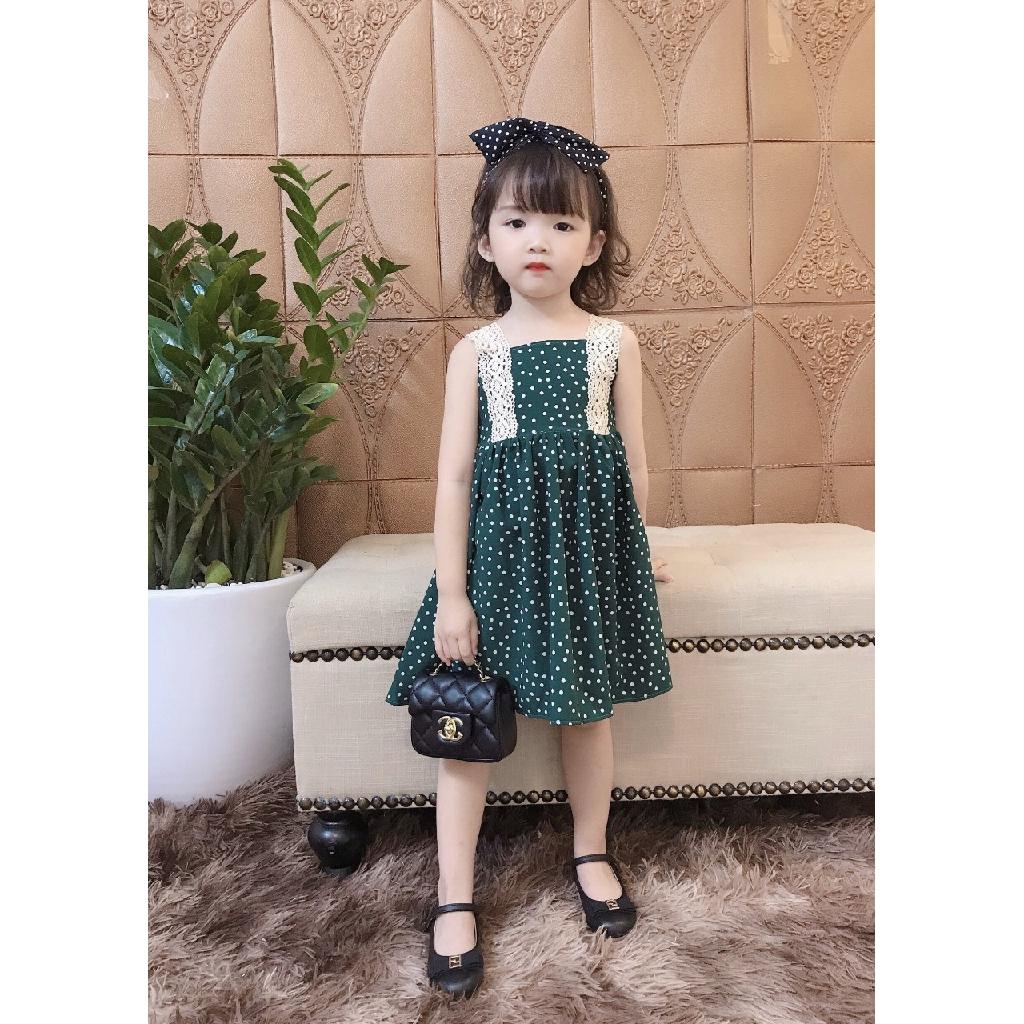 Váy công chúa cho bé chấm bi QATE441 cho bé sơ sinh đến 18kg