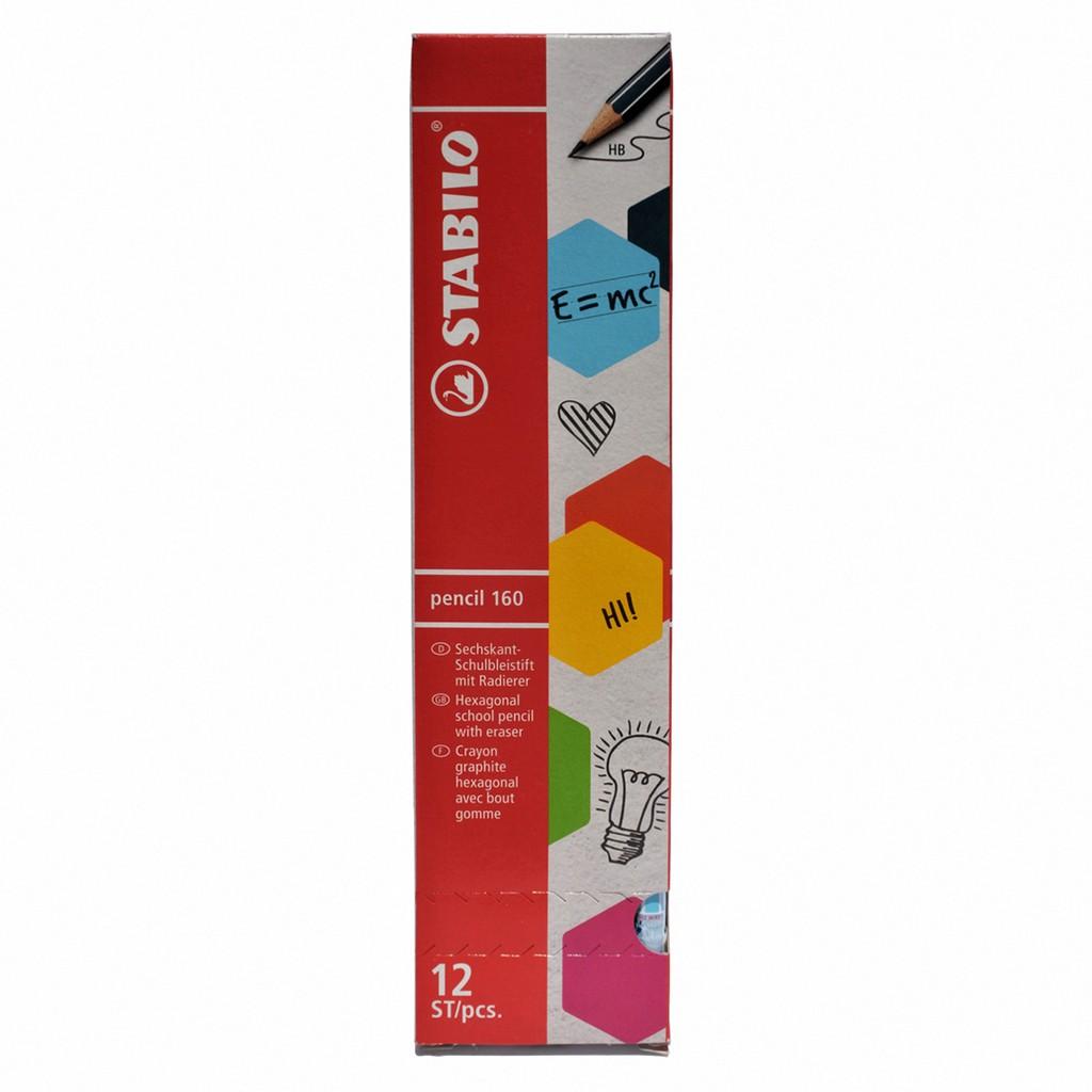Hộp 12 cây bút chì gỗ STABILO pencil PC2160U/12-HB (xanh)