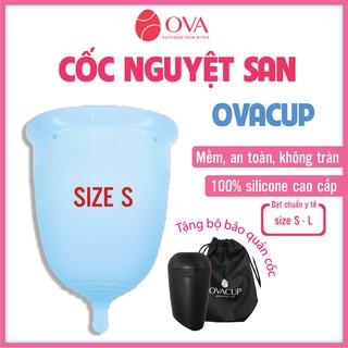 Cốc nguyệt san Ovacup nhập khẩu chính hãng Made In USA 100% Silicone y tế mềm chống tràn đạt tiêu chuẩn FDA Hoa Kỳ