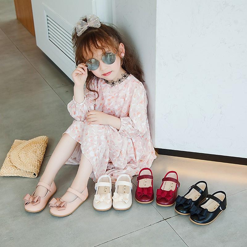 Giày búp bê đính nơ cho bé G1818