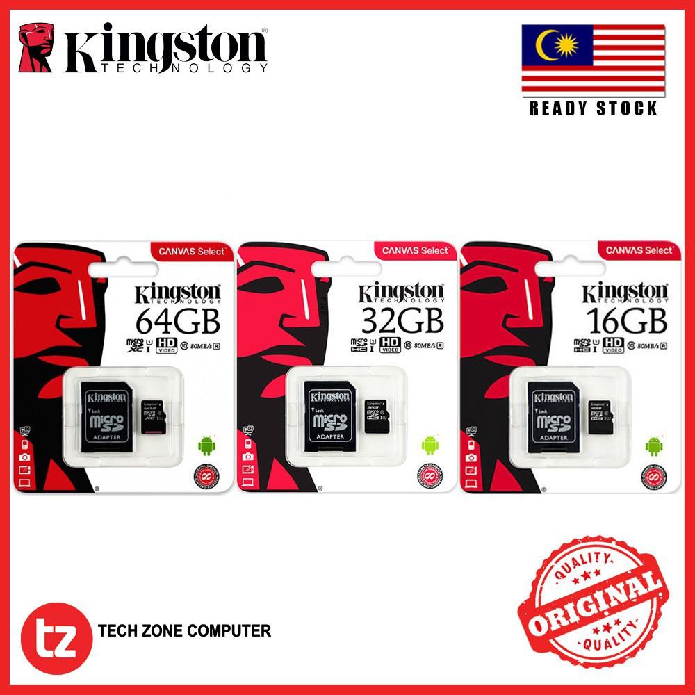 [ORIGINAL] KINGSTON 16GB   32GB   64GB Class 10 Micro SD Card
