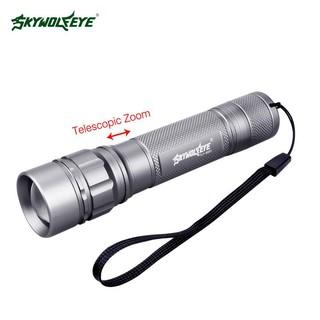 Đèn Pin LED Bỏ Túi Q5 3500 Lumen 3 Màu Bạc Với Ba Chế Độ Sáng Thu Phóng Được