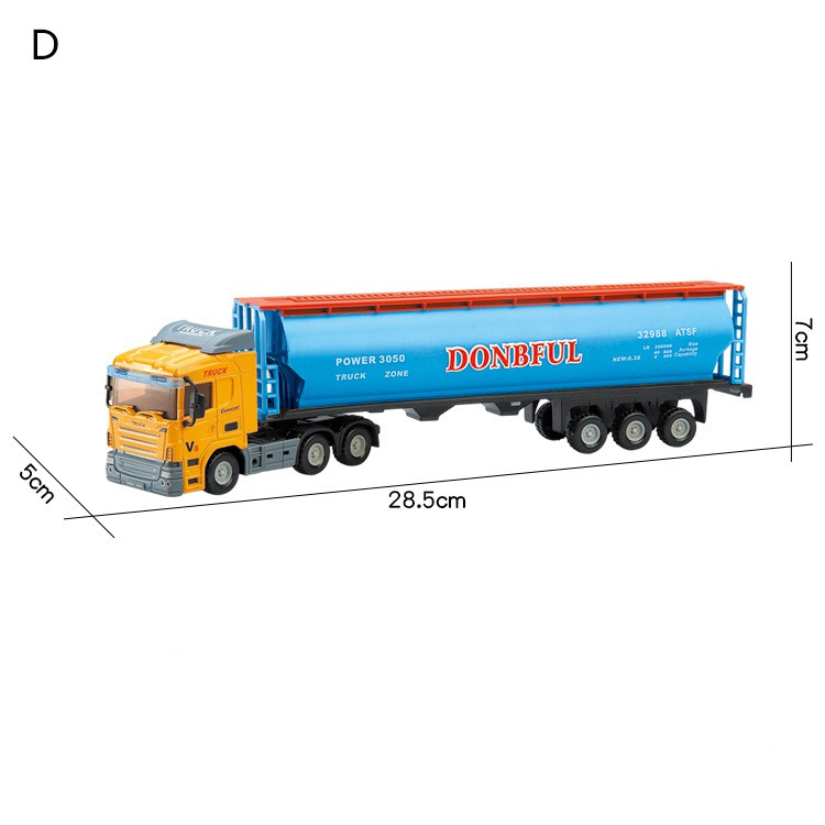 Children Toy Alloy Container Truck Tractor Tank Model Boy Toy