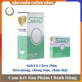 [ GIÁ SỈ ] - Bao cao su siêu mỏng, ôm thắt , tạo cảm giác chân thật Safefit Ultrathin - Hộp 3 cái hoặc 1 thumbnail