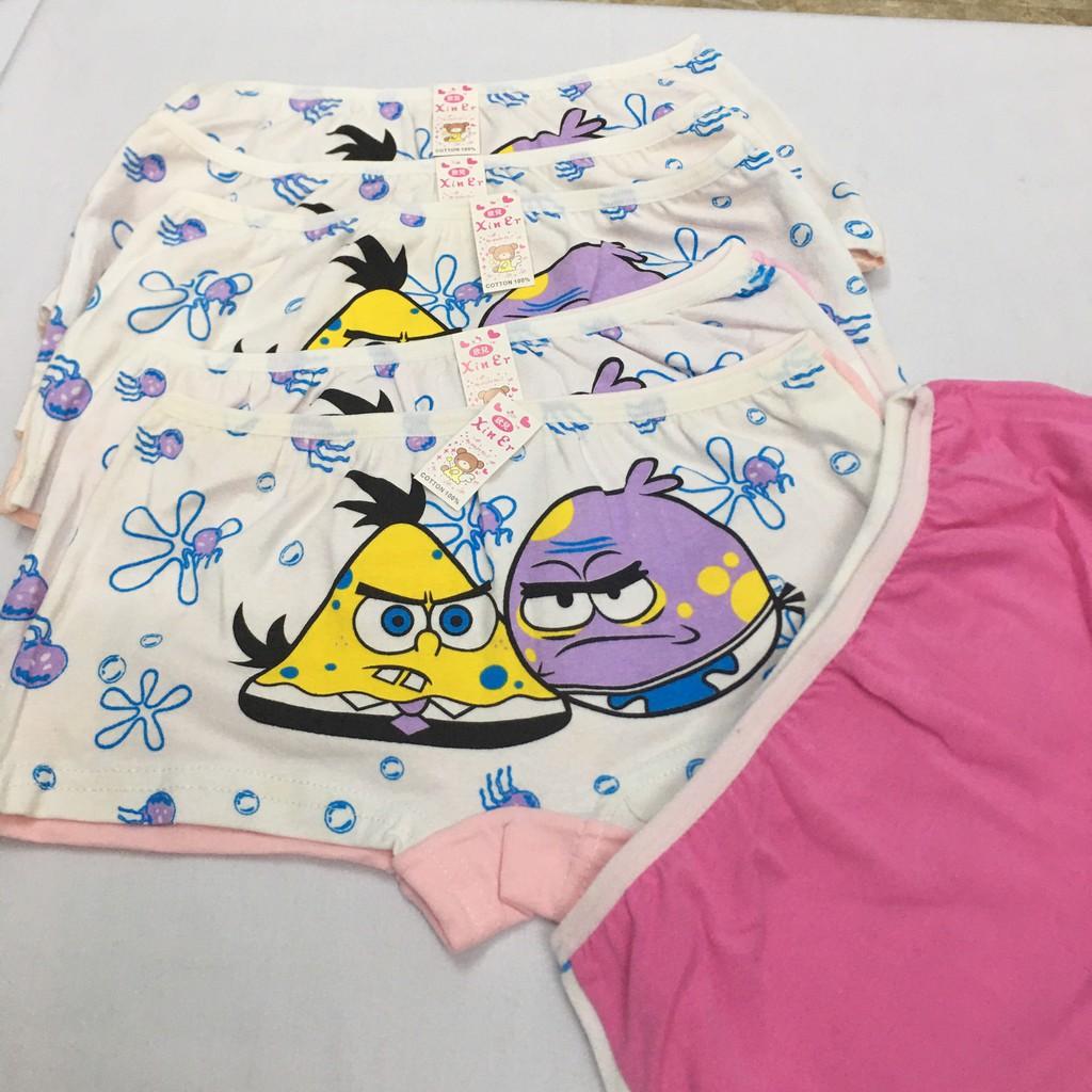 Quần chip bé gái ❤ Free Ship 50k ❤  Set 12 quần chíp đùi cho bé gái