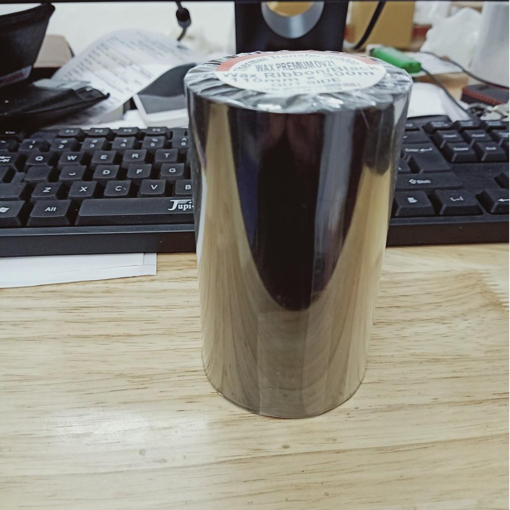 Cuộn mực in mã vạch, giấy than in mã vạch chuyển nhiệt 110mm x 300m Premium DV121/NW21