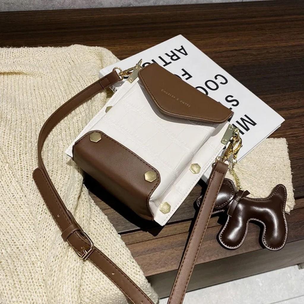 Túi Xách Nữ Mini Phối Màu Cực Đẹp Chất Da Tự Nhiên Bền Đẹp Size 16
