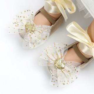 Giày búp bê đính nơ xinh xắn dành cho bé