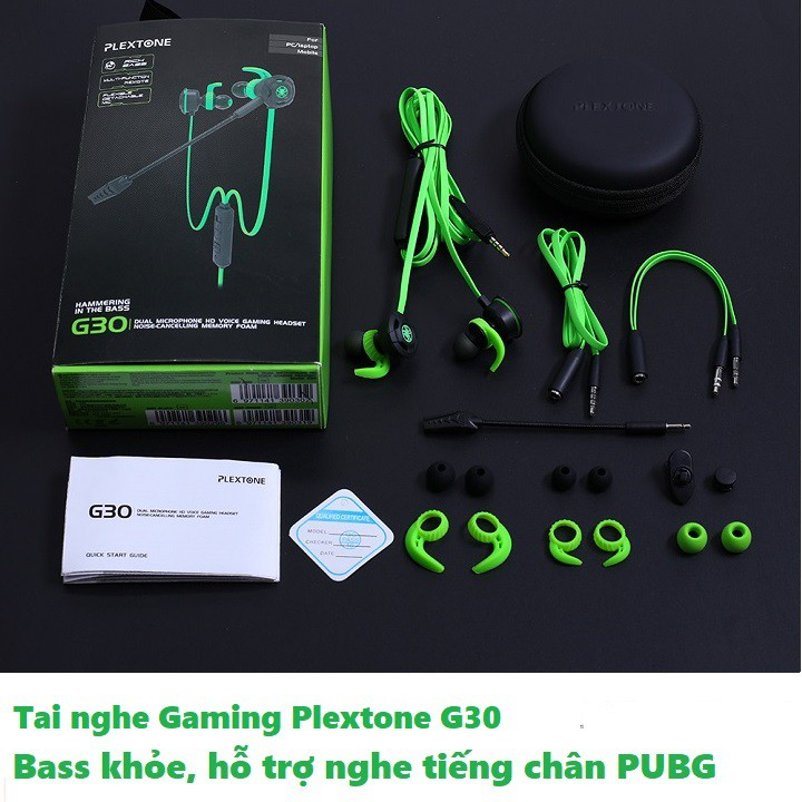 TAI NGHE PLEXTONE G30 | Tai Nghe Chơi Game | Tai Gaming PUBG
