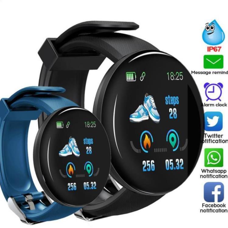Đồng Hồ Thông Minh Bluetooth D18 Theo Dõi Thể Thao Chống Nước Cho Nam Và Nữ Đồng Hồ Cho Hệ Thống IOS