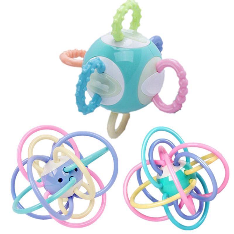 Baby Soft Rattle Teether Ball Toys Newborn Manhattan Hand Bell Grasping Toy