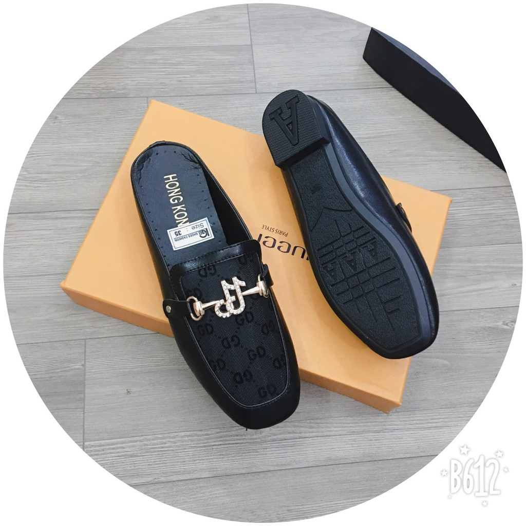 Giày lười nữ kiểu đạp gót phong cách Hàn Quốc cực hót