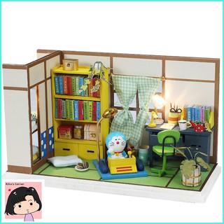 """Mô Hình Nhà Gỗ DIY """"Nhà Doraemon"""""""