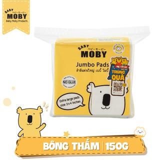 Gói bông miếng Baby Moby cỡ lớn (100 miếng gói)