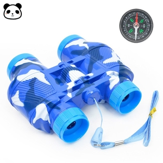 COD Kids Simulate Binoculars Telescope Compass Educational Toy with Neck Strap for Outdoor