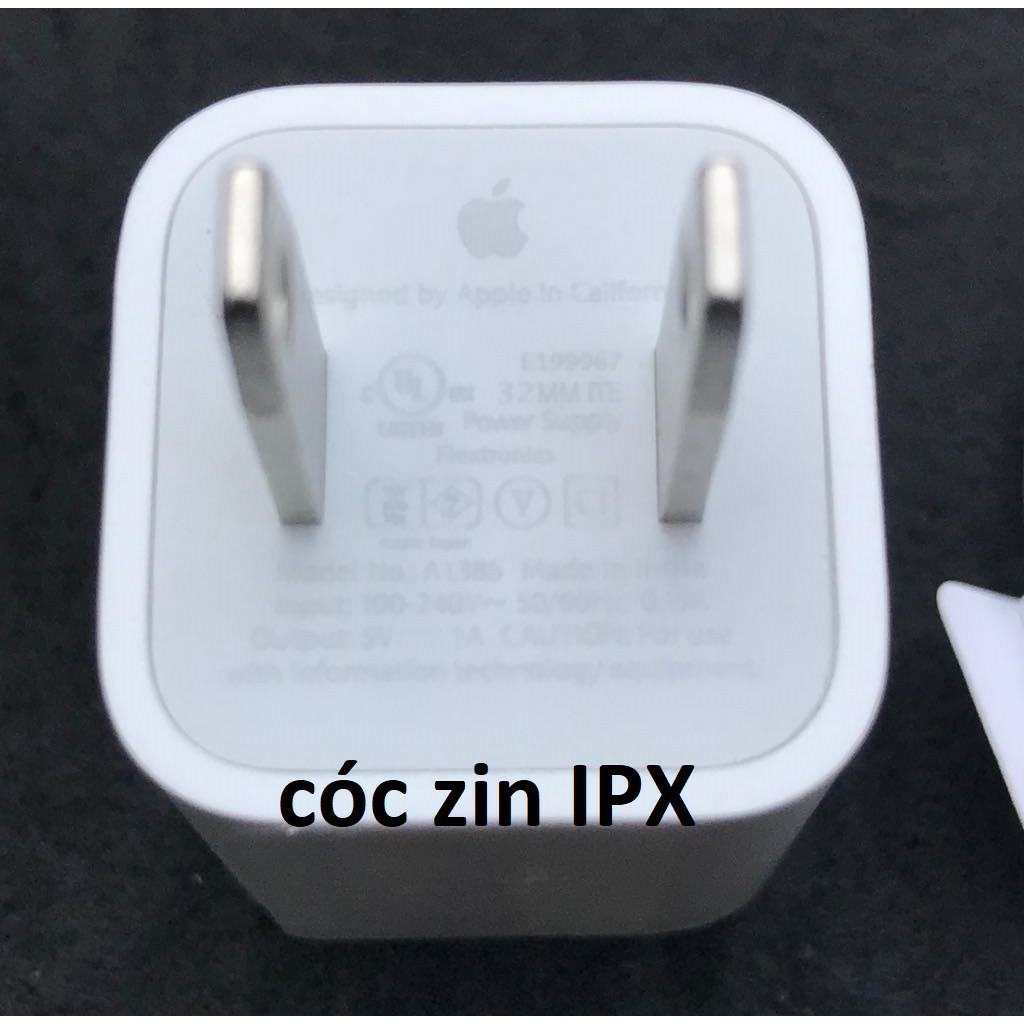 (ZIN)cốc sạc zin iphone mã India/ip X hiệu Foxconn