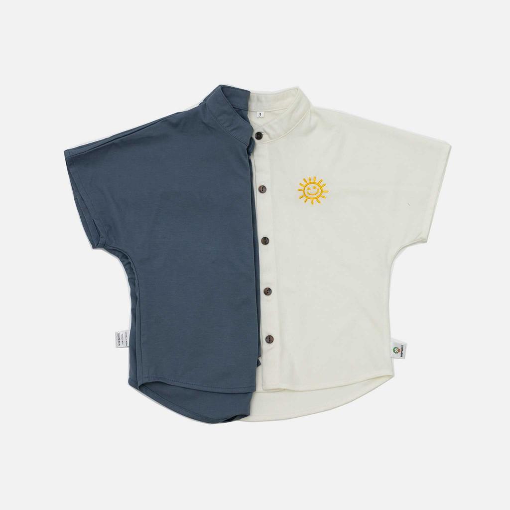 Áo sơ mi phong cách hàn quốc chất liệu linen lụa cao cấp cho bé trai từ 7 đến 19kg