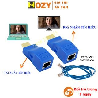 [Mã ELFLASH5 giảm 20K đơn 50K] Bộ HDMI kéo dài qua dây cáp mạng LAN cat5e/cat6 HDMI - LAN - HDMI