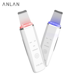 ANLAN Ultrasonic Skin Scrubber Blackhead Removal Machine Deep Cleaning With Red Blue Light