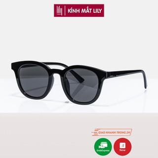 Kính mát nam nữ Lilyeyewear chống tia UV400, thiết kế mắt tròn dễ đeo, phù hợp nhiều khuôn mặt, màu sắc đa dạng - 2158