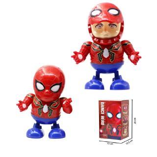 Đồ chơi robot Spider Man người nhện nhảy múa vui nhộn có nhạc và đèn cho bé