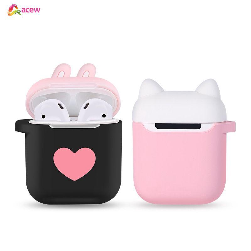 ✪Earphone*COD✪ Silicone Case Cover Cute Cat Protective Skin Earphones Pouch For Apple AirPods