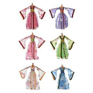 ☃SHL☃ Dress for Barbies Classical Beautiful Chinese Ancient Dress Doll Toy 6 Colors [LT]