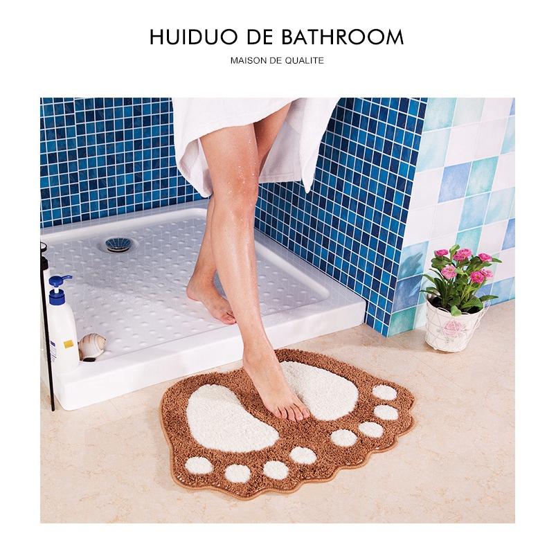 Mắt cá chân phòng tắm nhỏ chống trượt thảm thảm nhà vệ sinh nước chống trượt thảm cửa mat Trang trí nội thất