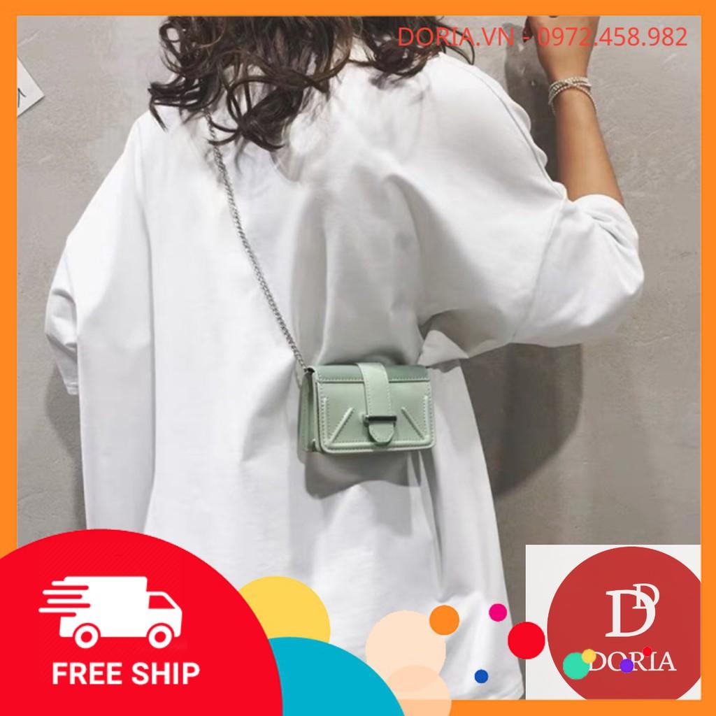 FREESHIP 99K - Túi đeo chéo mini khoá cài phong cách Hàn Quốc DR100