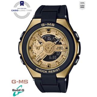 Đồng Hồ Nữ Casio Baby G MSG-400G-1A2DR Dây Nhựa - Dây Đen Mặt Mạ Vàng - Chống Nước 100m thumbnail