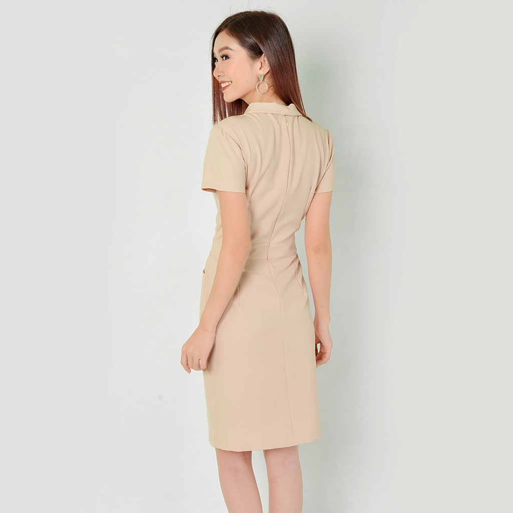 Mặc gì đẹp: Sang trọng với Đầm công sở thời trang Eden cổ vest tay ngắn - D323