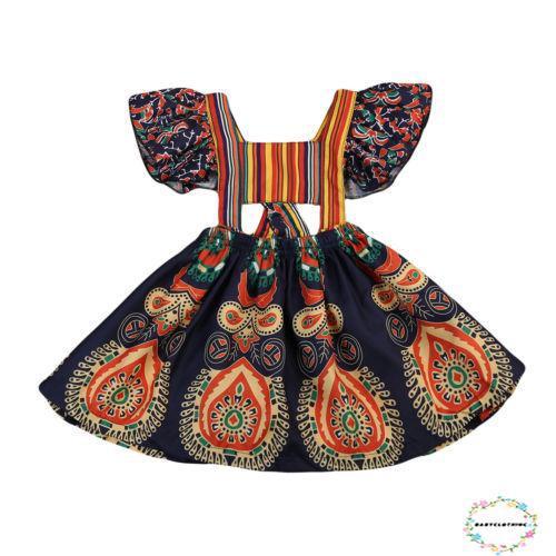 Đầm Hoa Tay Ngắn Kiểu Dáng Thời Trang Cho Bé Gái
