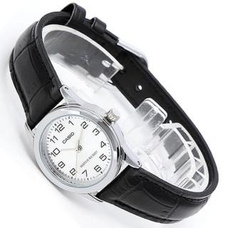 Đồng hồ nữ dây da Casio chính hãng Anh Khuê LTP-V001L-7BUDF