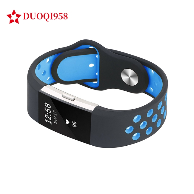 Soft Silicone Replacement Wristband Adjustable Fashion Sport Strap for Fitbit Charge 2