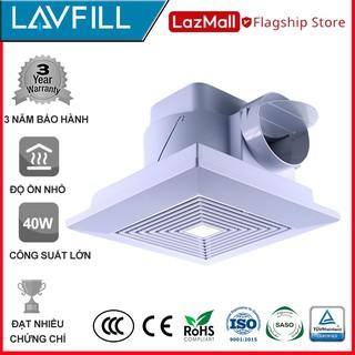 [FREESHIP 99K]_Quạt thông gió, quạt hút gió âm trần-ốp trần Model LAVFILL LFCV-16A (Installing Size: 230*230 mm)