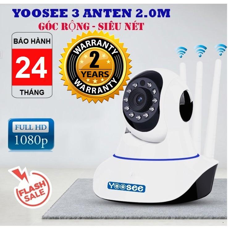 Camera WiFi YooSee 3 râu , 2.0 ,độ phân giải 1920 X 1080 ,ghi âm, đàm thoại 2 chiều, cảnh báo, lưu trữ video