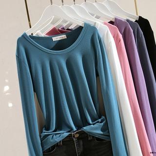 Áo Thun Cotton Cổ Tròn Dáng Ôm Xinh Xắn Thời Trang Hàn Quốc 2020