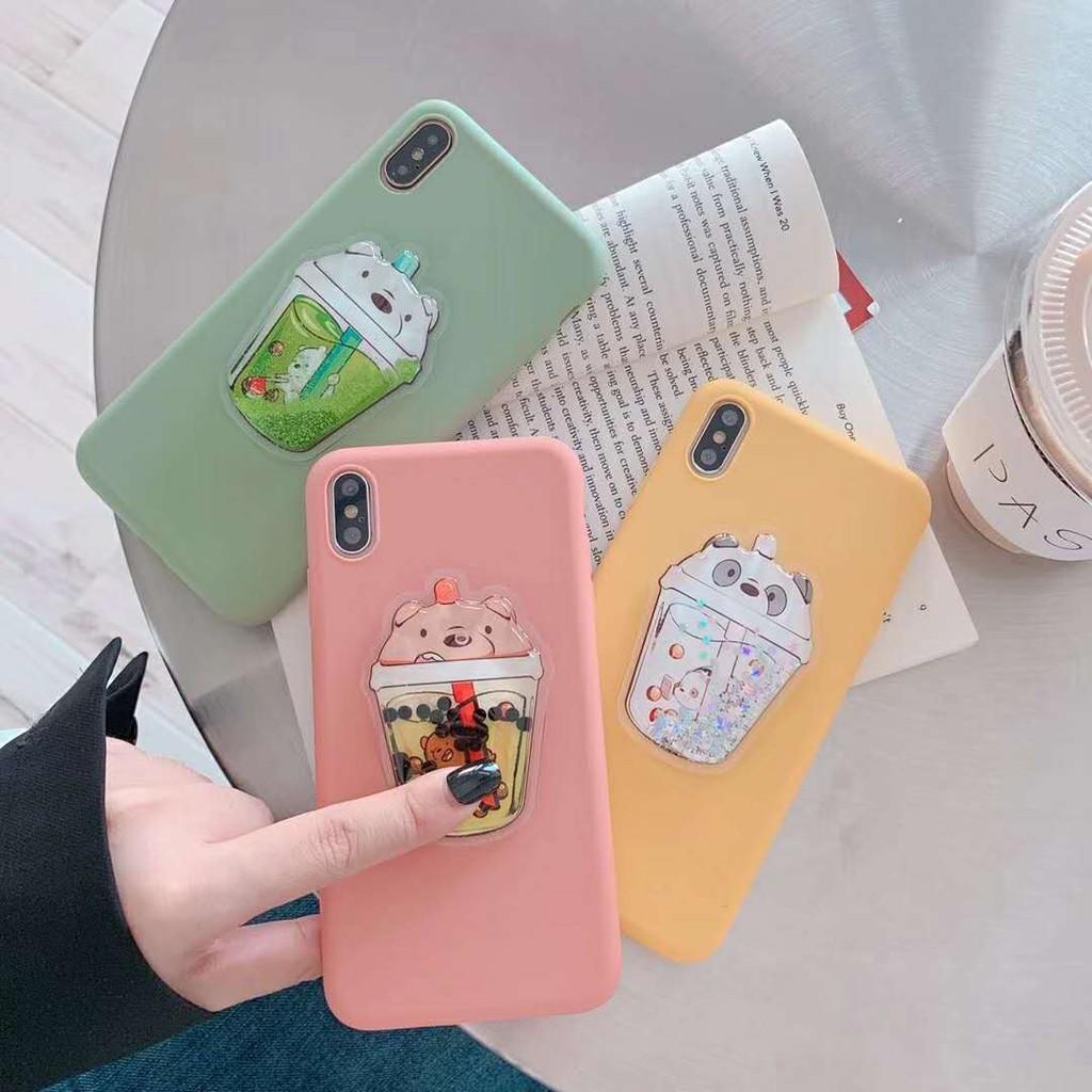 Ốp dẻo hình ly nước gấu cho điện thoại iphone6/6s/6plus/6splus/7/7plus/8/8plus/X/Xs/Xr/XsMAX