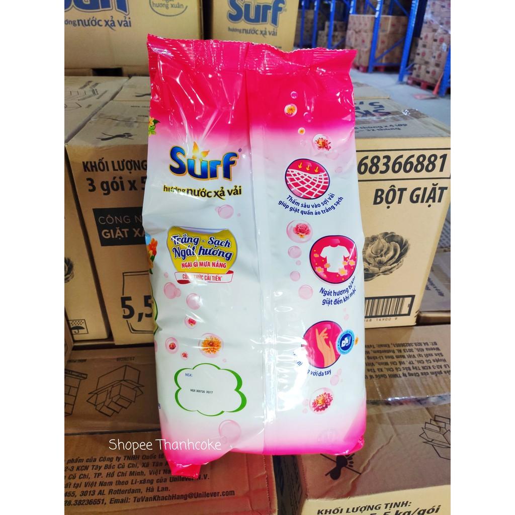 Bột giặt Surf hương Nước xả vải hồng 5.8kg Ngát hương xuân