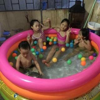 Bể bơi phao bơi Intex 147*33(cm). Tặng 10 bóng nhựa cho bé chơi