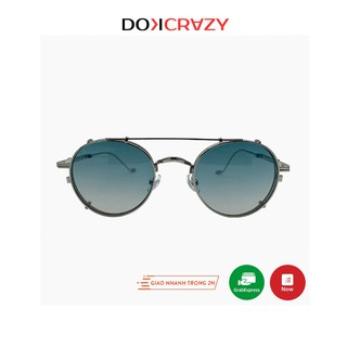 Kính mát râm cận clip on DABLO local brand DOKCRAZY thời trang nam nữ gọng tròn mắt râm ngầu phân cực chống tia UV retro