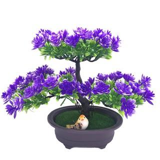 Hoa giả mô phỏng hoa trang trí phòng khách nhựa xanh trồng cửa hàng hành khách tủ rượu sáng tạo đồ trang trí thủ công bo