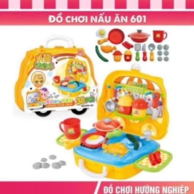 [Mã TOYOCT hoàn 20K xu đơn 50K] Bộ đồ chơi nấu ăn đồ chơi bán hàng bánh kẹo humberger cho...